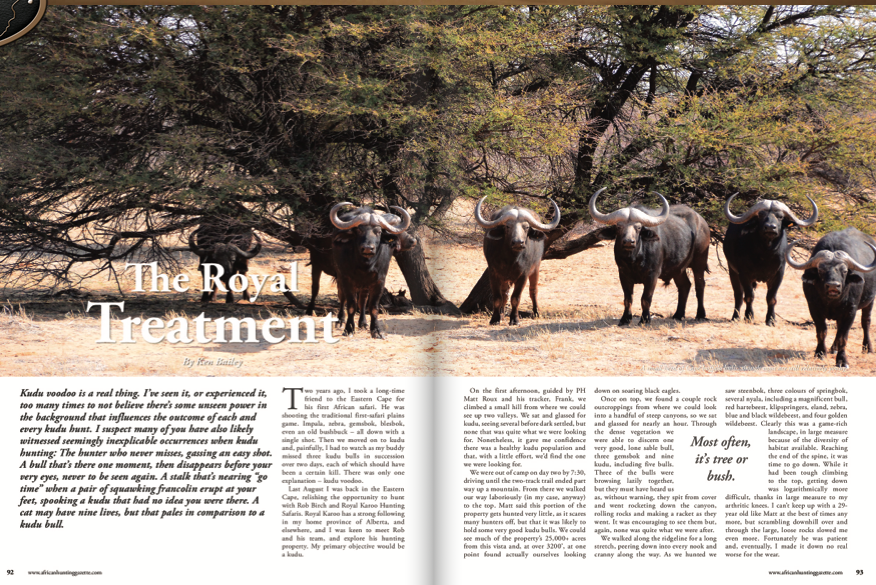 African Hunting Gazette Hunt Africa Royal Karoo